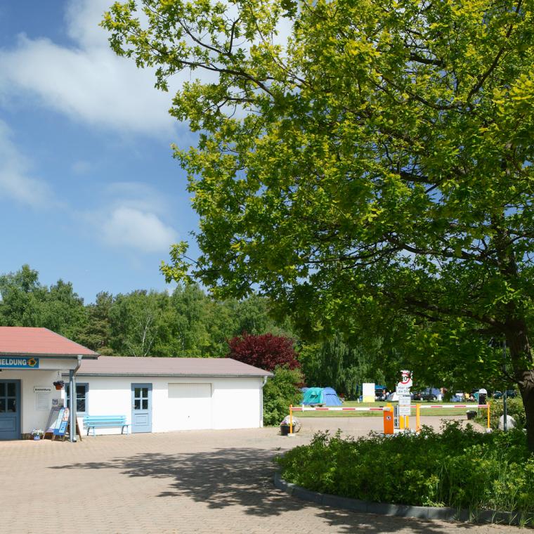 Unser Eingangsbereich zum OstseeCamp Dierhagen